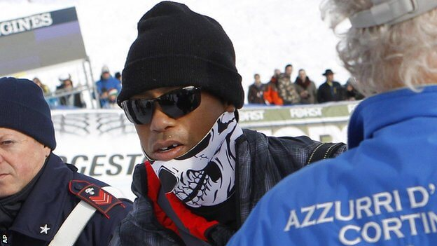 Tiger Woods loses tooth while watching his girlfriend compete in Italy