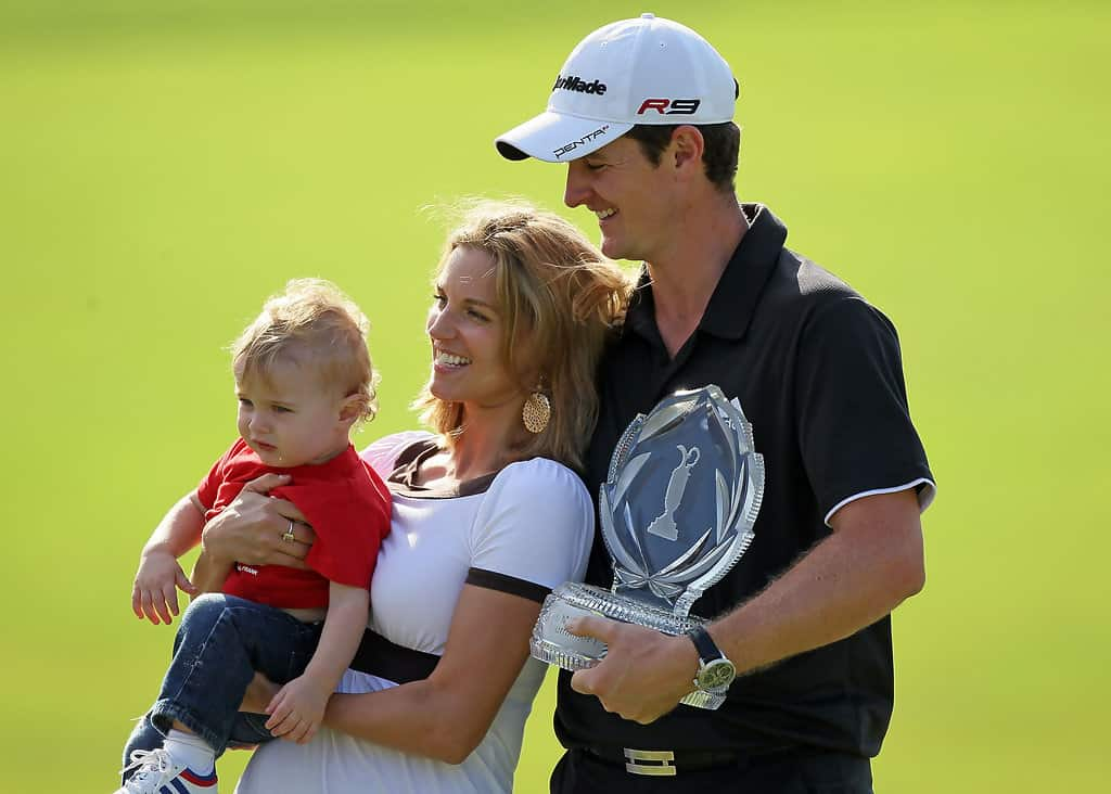 Kate Phillips and Justin Rose